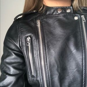 H&M Jackets & Coats - H&M Black Leather Biker Jacket